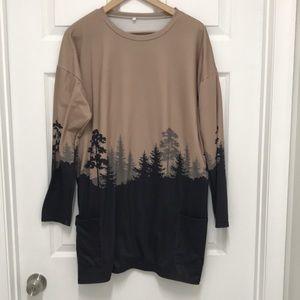 Shirt Dress great with leggings